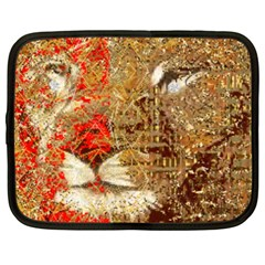Artistic Lion Red And Gold By Kiekie Strickland  Netbook Case (large)