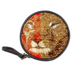 Artistic Lion Red And Gold By Kiekie Strickland  Classic 20 Cd Wallets by flipstylezdes