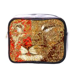 Artistic Lion Red And Gold By Kiekie Strickland  Mini Toiletries Bags