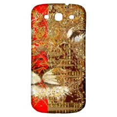 Artistic Lion Red And Gold By Kiekie Strickland  Samsung Galaxy S3 S Iii Classic Hardshell Back Case by flipstylezdes