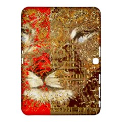 Artistic Lion Red And Gold By Kiekie Strickland  Samsung Galaxy Tab 4 (10 1 ) Hardshell Case  by flipstylezdes