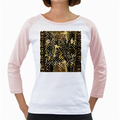 Retro Design In Gold And Silver Created By Kiekie Strickland Flipstylezdesigns Girly Raglans