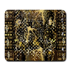 Retro Design In Gold And Silver Created By Kiekie Strickland Flipstylezdesigns Large Mousepads