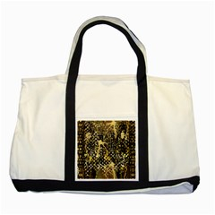 Retro Design In Gold And Silver Created By Kiekie Strickland Flipstylezdesigns Two Tone Tote Bag