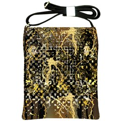 Retro Design In Gold And Silver Created By Kiekie Strickland Flipstylezdesigns Shoulder Sling Bags