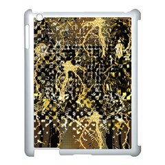 Retro Design In Gold And Silver Created By Kiekie Strickland Flipstylezdesigns Apple Ipad 3/4 Case (white) by flipstylezdes