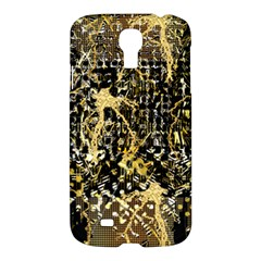 Retro Design In Gold And Silver Created By Kiekie Strickland Flipstylezdesigns Samsung Galaxy S4 I9500/i9505 Hardshell Case by flipstylezdes