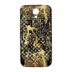 Retro Design In Gold And Silver Created By Kiekie Strickland Flipstylezdesigns Samsung Galaxy S4 I9500/i9505  Hardshell Back Case by flipstylezdes