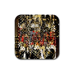 Facing The Storm Design By Kiekie Strickland Rubber Coaster (square)  by flipstylezdes