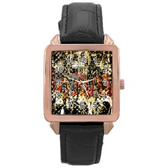 Facing The Storm Design By Kiekie Strickland Rose Gold Leather Watch  by flipstylezdes