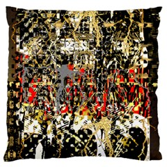 Facing The Storm Design By Kiekie Strickland Large Flano Cushion Case (one Side) by flipstylezdes