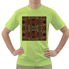 Gorgeous Aztec Design By Kiekie Strickland Green T Shirt