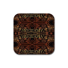 Gorgeous Aztec Design By Kiekie Strickland Rubber Coaster (square)