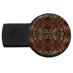 Gorgeous Aztec Design By Kiekie Strickland Usb Flash Drive Round (2 Gb)