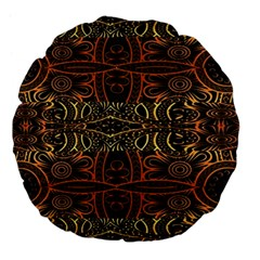 Gorgeous Aztec Design By Kiekie Strickland Large 18  Premium Flano Round Cushions