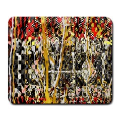 Retro Orange Black And White Liquid Gold  By Kiekie Strickland Large Mousepads by flipstylezdes