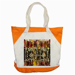 Retro Orange Black And White Liquid Gold  By Kiekie Strickland Accent Tote Bag