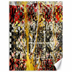 Retro Orange Black And White Liquid Gold  By Kiekie Strickland Canvas 18  X 24   by flipstylezdes