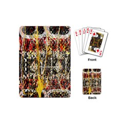 Retro Orange Black And White Liquid Gold  By Kiekie Strickland Playing Cards (mini)