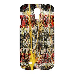 Retro Orange Black And White Liquid Gold  By Kiekie Strickland Samsung Galaxy S4 I9500/i9505 Hardshell Case by flipstylezdes