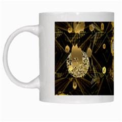 Decorative Icons Original Gold And Diamonds Creative Design By Kiekie Strickland White Mugs