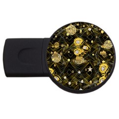 Decorative Icons Original Gold And Diamonds Creative Design By Kiekie Strickland Usb Flash Drive Round (2 Gb)