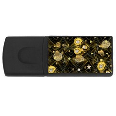 Decorative Icons Original Gold And Diamonds Creative Design By Kiekie Strickland Rectangular Usb Flash Drive