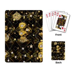 Decorative Icons Original Gold And Diamonds Creative Design By Kiekie Strickland Playing Card