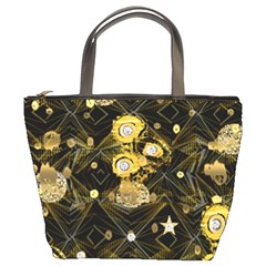 Decorative Icons Original Gold And Diamonds Creative Design By Kiekie Strickland Bucket Bags by flipstylezdes
