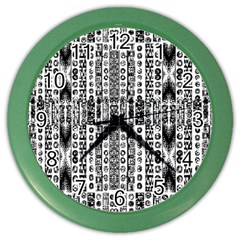 Creative Retro Black And White Abstract Vector Designs By Kiekie Strickland Color Wall Clocks