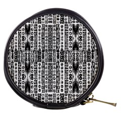 Creative Retro Black And White Abstract Vector Designs By Kiekie Strickland Mini Makeup Bags by flipstylezdes