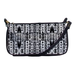 Creative Retro Black And White Abstract Vector Designs By Kiekie Strickland Shoulder Clutch Bags by flipstylezdes
