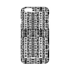 Creative Retro Black And White Abstract Vector Designs By Kiekie Strickland Apple Iphone 6/6s Hardshell Case by flipstylezdes