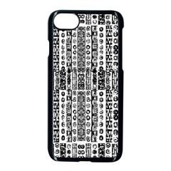 Creative Retro Black And White Abstract Vector Designs By Kiekie Strickland Apple Iphone 8 Seamless Case (black)