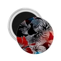 Beautiful Hibiscus Flower Design  2 25  Magnets