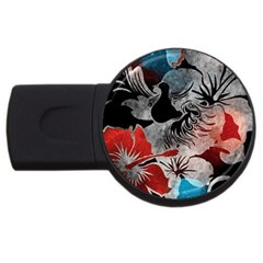 Beautiful Hibiscus Flower Design  Usb Flash Drive Round (2 Gb) by flipstylezdes