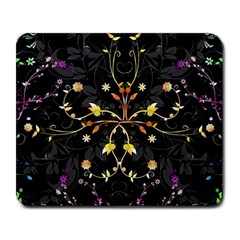 Beautiful Floral Swirl Brushes Vector Design Large Mousepads