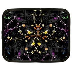 Beautiful Floral Swirl Brushes Vector Design Netbook Case (xxl)