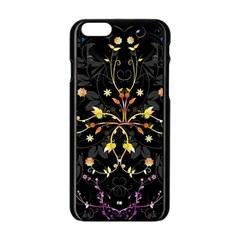 Beautiful Floral Swirl Brushes Vector Design Apple Iphone 6/6s Black Enamel Case by flipstylezdes