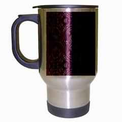 Beautiful Decorative Creative Purple Seamless Design By Kiekie Stricklnd Travel Mug (silver Gray)