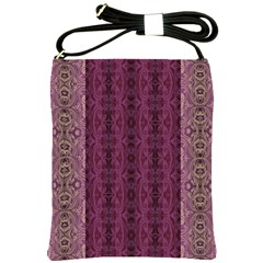 Beautiful Decorative Creative Purple Seamless Design By Kiekie Stricklnd Shoulder Sling Bags by flipstylezdes