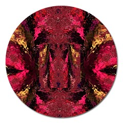 Gorgeous Burgundy Native Watercolors By Kiekie Strickland Magnet 5  (round) by flipstylezdes