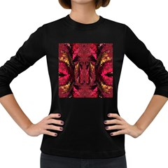 Gorgeous Burgundy Native Watercolors By Kiekie Strickland Women s Long Sleeve Dark T Shirts