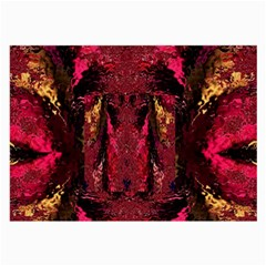 Gorgeous Burgundy Native Watercolors By Kiekie Strickland Large Glasses Cloth (2 Side) by flipstylezdes