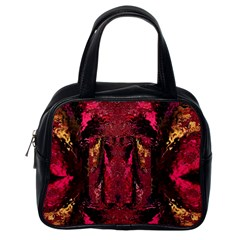Gorgeous Burgundy Native Watercolors By Kiekie Strickland Classic Handbags (one Side) by flipstylezdes