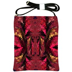 Gorgeous Burgundy Native Watercolors By Kiekie Strickland Shoulder Sling Bags by flipstylezdes