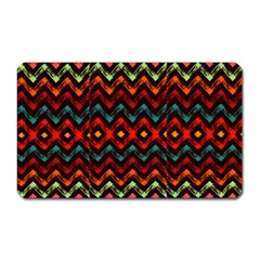 Seamless Native Zigzags By Flipstylez Designs Magnet (rectangular)