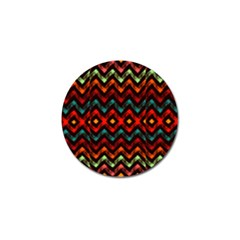Seamless Native Zigzags By Flipstylez Designs Golf Ball Marker