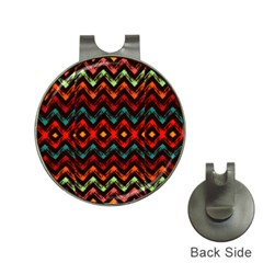 Seamless Native Zigzags By Flipstylez Designs Hat Clips With Golf Markers by flipstylezdes