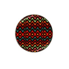 Seamless Native Zigzags By Flipstylez Designs Hat Clip Ball Marker
